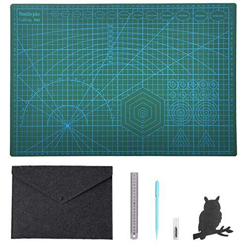 カッティングマット両面5層シート構造カッターマット ナイフとテーブルトップを保護するカッター工具 カッターマット事務・プラモデル・手芸等に A3(450*300*3mm)