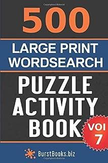500 Large Print Wordsearch Puzzle Activity Book: Volume Seven