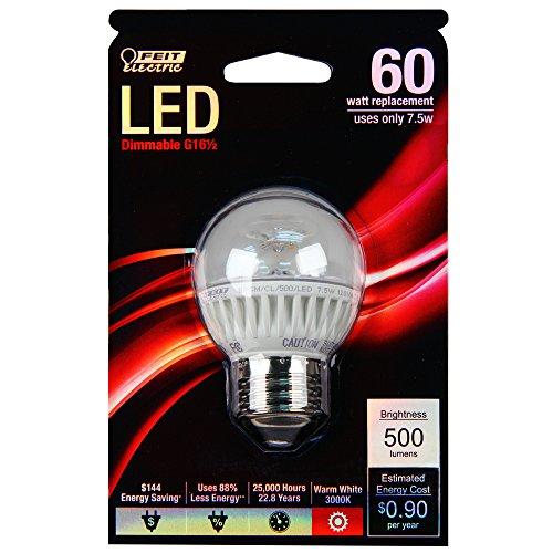 Feit bpgm/CL/500/LED 60W equivalente G16.5tamaño mediano Base LED luz, suave color blanco
