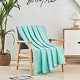 JML Soft Fleece Blanket Throw (50'x60'), Plush Soft Cozy Warm Fleece Bed Blanket All Season for Couch Bed Sofa, Tiffany Blue