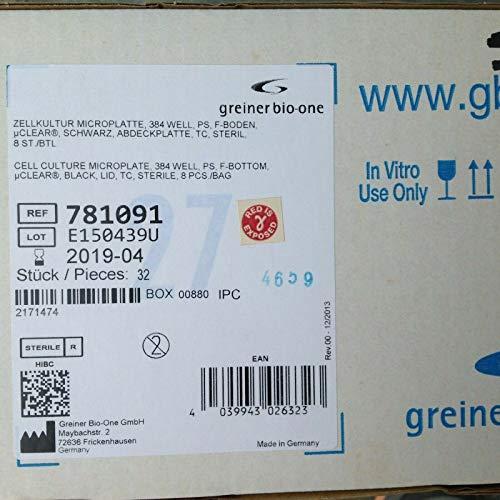 Greiner Bio-One 781091 Zellkultur-Mikroplatte 384 Well PS steril, 32 Stück, versiegelt
