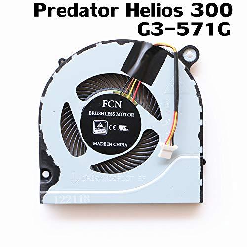DXCCC Laptop-Kühler für Acer Predator Helios 300 G3-571 G3-571G CPU Lüfter Fan DFS541105FC0T FJN1