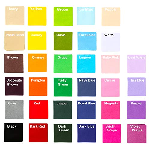 Exquiss 3400 Sheets Tissue Paper Squares 2 inch Bulk 34 Colors for Art Paper Craft Scrunch Art Kids Craft DIY Craft Tracing Scrapbooking Embellishments Rainbow School Supplies(2 x 2 inch)