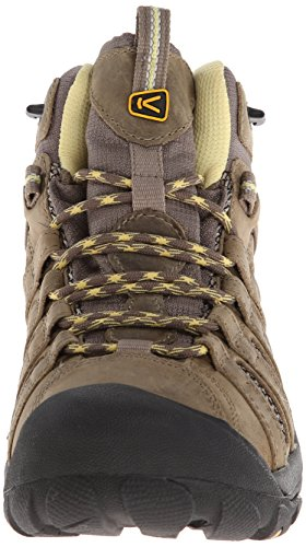 KEEN Women's Voyageur Mid Hiking Boot, Brindle/Custard, 8.5 B - Medium