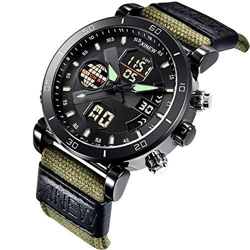 Herrenuhr,7160 Nylongürtel,Smartwatch Uhr Uhren Armbanduhr, Automatikuhr,Wasserwiderstandstiefe: 30 m (3 Bar / 3 ATM),Geschenk für Familie und Freunde