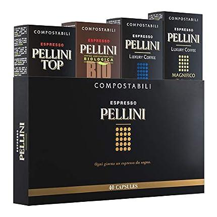 Pellini Caffè - Espresso Pellini Gift Box - 40 Cápsulas - Compatible con Máquina Nespresso