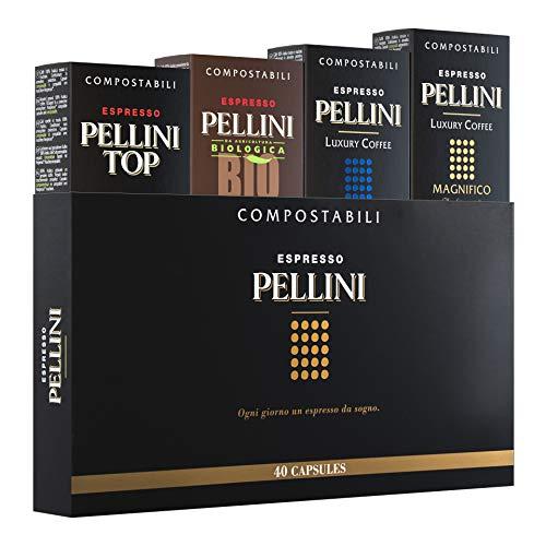 Pellini Caffè, Espresso Gift Box Packung, kompatibel mit Nespresso, 40 Kapseln