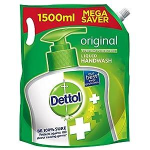 Dettol Liquid Handwash Refill - Original Germ Protection Hand Wash, 1500 ml (Price offer) | Antibacterial Formula | 10x Better Germ Protection