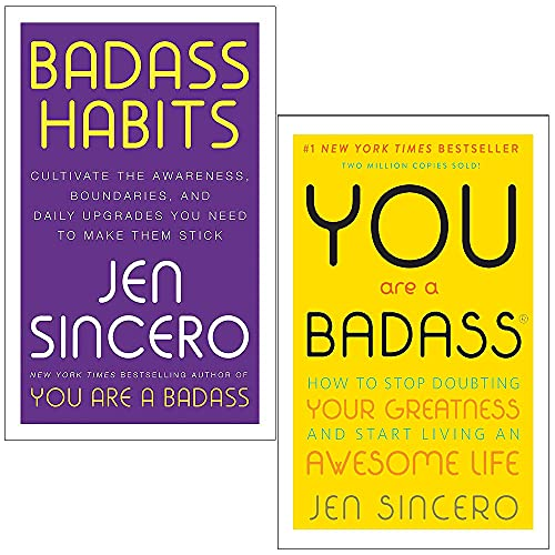 Badass Habits & You Are a Badass By Jen Sincero 2 Books Collection Set