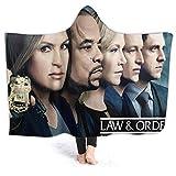Wabaodan Law & Order SVU Team Soft Hooded Blanket Coverall Cape Cloak 60' X50