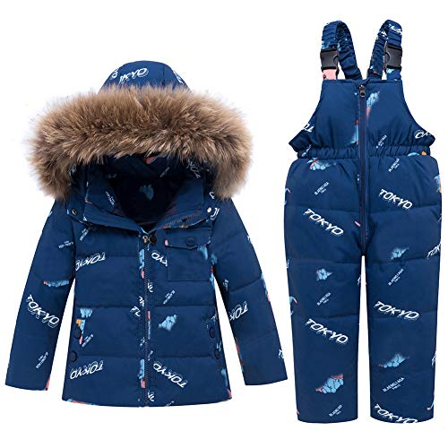 WESIDOM Baby Boys Girls Snowsuit,Toddler Winter Outfit Sets Kids Hooded Artificial Fur Down Jacket...