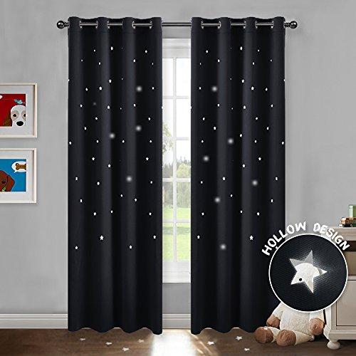 cortinas opacas 2 piezas negras