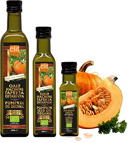 Certified Organic Cold Pressed Pumpkin Seed Oil 100ml (250ml)