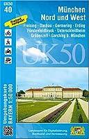 Muenchen Nord und West 1 : 50 000 ((UK 50-40) Laufzeit bis 2021: Dachau, Fuerstenfeldbruck, Freising, Aichach, Erding, Germering, Geltendorf, Unterschleissheim, Garching b.Muenchen, Petershausen, Altomuenster, Ismaning, Wittelsbacher Land, Erdinger Moos, mittleres Isartal, Wuermtal, Ampertal