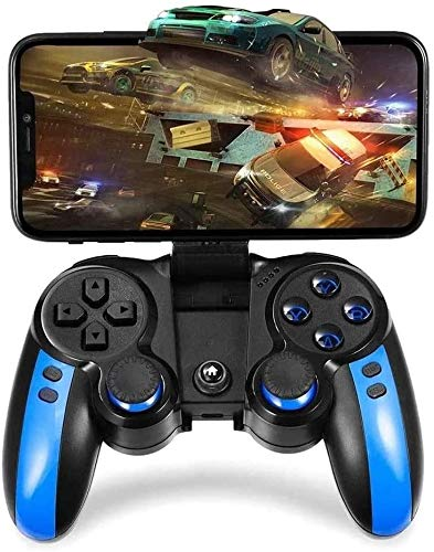 YUYANDE 2.4G Controlador de Juego inalámbrico, Controlador de Juegos Azul Bluetooth, Controlador de Gamepad para Tablet PC Win 7/8/10 System Smart TV/TV Box