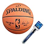 Spalding NBA Official Game Basketball w/ 12' Dual Action Pump
