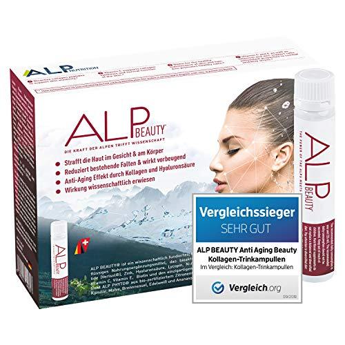ALP BEAUTY Colágeno Acido Hialurónico Vitamina C Zinc 14x25 ml Ampollas bebibles antiedad bellezza tratamiento y antiarrugas con biotina colageno hidrolizado glucosamina y vitaminas mujer