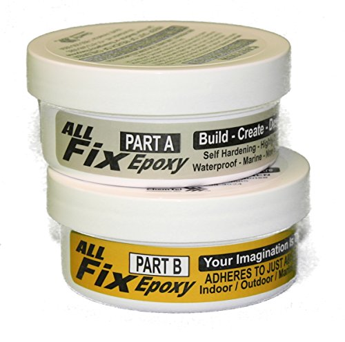 All-Fix Epoxy Putty Kit 1-1/2 LB - Pool - Marine - Underwater - Pond - Tank - Premium Sculpting Modeling & Repair Compound - Arts & Crafts Jewelry Design - Modeling Fix All Things Boat Surfboard Kayak