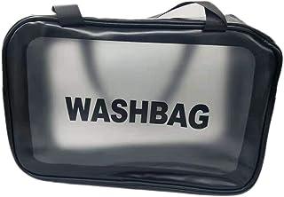 Cosmetic bag portable travel makeup bag transparent travel toiletry bag, waterproof transparent makeup bag, transparent pa...