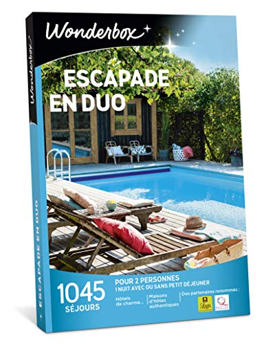 Wonderbox – Coffret cadeau duo - ESCAPADE EN DUO – 1045...