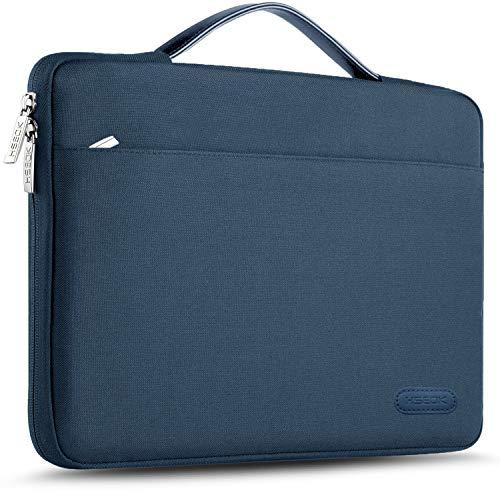 HSEOK Maletin Portatil 15 15,6 16 Pulgadas Funda Protectora Delgada Impermeable para MacBook Pro 15 16 y 15'-16' Laptop Ultrabook Chromebook, DELL HP Lenovo Acer Ausu y más, Azul Marino