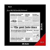 SYBLD 包装紙の包装紙のワックス紙ハンバーガロールサンドイッチ紙グリースの紙グレードの膜の防水200ピース (Color : NO.21)