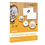 Hemudu Tale Printable Business Cards Paper,2 x 3.5', 250 Cards, Inkjet & Laser Printer Compatible 216 gsm (25 Sheets),White