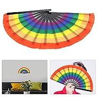 布製扇子、幅広い用途誕生日パーティー、コスプレ、記念日、衣装、コンサート、劇場、コレクション用のカラフルな扇子