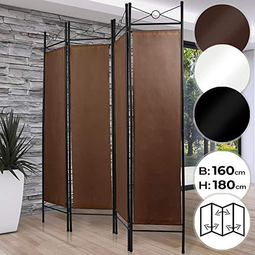 MIADOMODO Biombo Separador - 4 Paneles, 180x160cm, como Pantalla, Cambiador,...