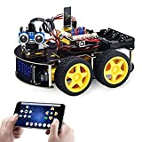 KEYESTUDIO Smart Car Robot,4WD Programmable DIY Starter Kit for Arduino for Uno R3 ,Electronics Programming Project/STEM Educational/Science Coding Robot Toys for Kids Teens Adults,12+