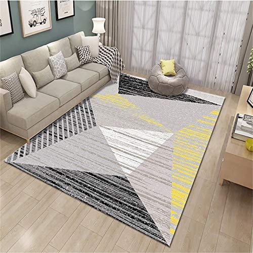 WUDAXIAN moderna mattor vardagsrum matta – tvättbar med filt Heavy Duty lämplig för sovrum och hem laminatgolv – stora storlekar