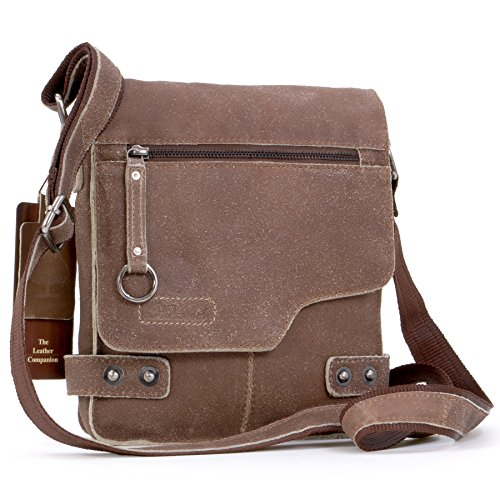 Borsa Messenger Ashwood in pelle - 8351 - Marrone Chiaro