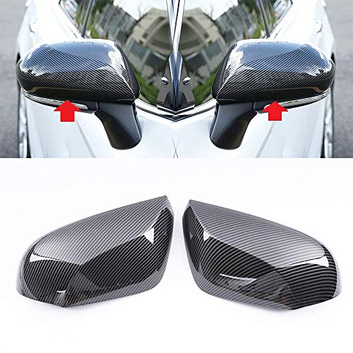 Overun Carbon Fiber Paint Door Side Mirror Cover Overlay Designed For 2018-2020 Camry