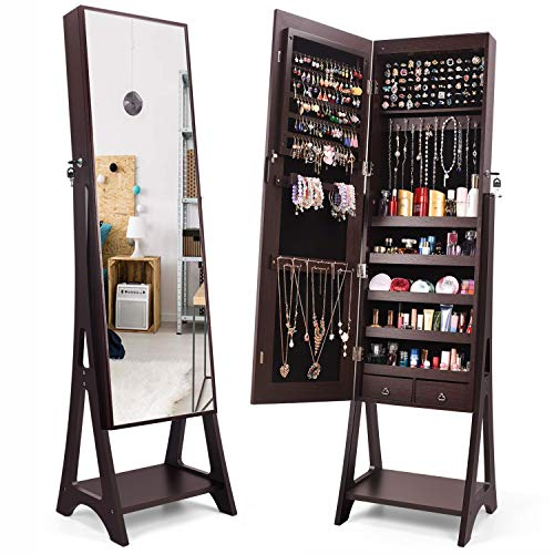 TUSY Mirror Jewelry Cabinet Full Length