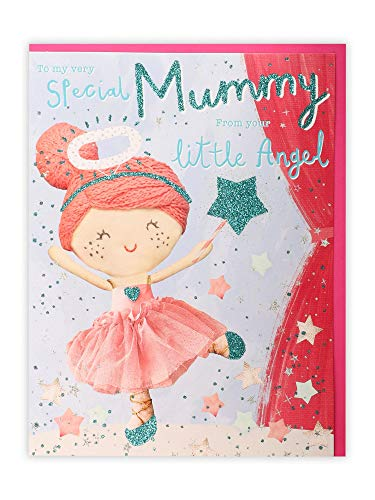 Clintons: From your Little Angel Mother's Day Card, Mummy149x195mm, multi-color