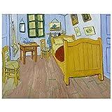 Legendarte Cuadro Lienzo, Impresión Digital - El Dormitorio En Arlés Vincent Van Gogh, cm. 80x100 - ...