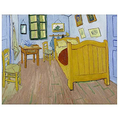 Legendarte Cuadro Lienzo, Impresión Digital - El Dormitorio En Arlés Vincent Van...
