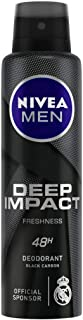 NIVEA MEN Deodorant, Deep Impact Freshness, 150ml