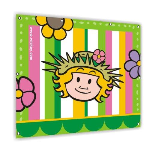 WICKEY Flagge/Segel Flowers 105x96cm