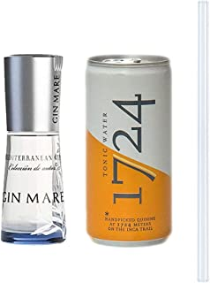 Gin Mare Gin  1724 Tonic Water  Glas Trinkhalm