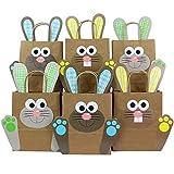 DIY Osterhasen Tüten mit Henkel - Geschenktüten zu Ostern zum