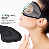 OriHea Sleep Mask for Women & Men, 3D Comfort Ultra Soft Premuim Eye Mask for Sleeping, Block Out Light 100% Eye Shade Cover, Adjustable Silk Foam Blindfild, Travel/Naps/Yoga/Plane/Night.