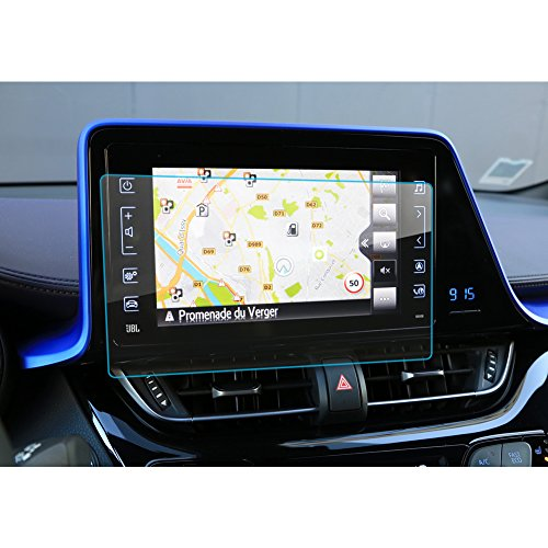 LFOTPP C-HR NGX50 ZYX10 navigatie beschermfolie - 9H krasbestendig anti-vingerafdruk pantserglas displaybeschermfolie GPS Navi folie