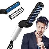 Latuki Quick Hair Styler for Men Electric Beard Straightener Massage Hair Comb Beard Comb Multifunctional Curly Hair Straightening Comb Curler, Beard Straightener, Beard Straightener For Men