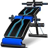 OESFL Mancuerna banco del entrenamiento Banco de múltiples funciones del Banco de ejercicio, ajustable plana banco de la declinación Incline Press Formación aparatos de gimnasia azul banco 115x32x68cm
