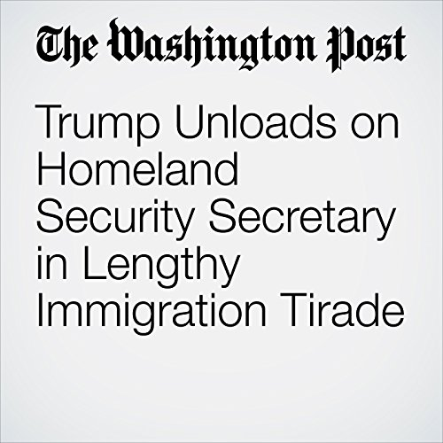 Trump Unloads on Homeland Security Secretary in Lengthy Immigration Tirade copertina