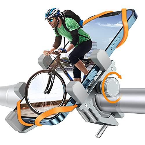 Fahrrad Handyhalterung, DesertWest Luftfahrt-Aluminiumlegierung Motorrad Scooter Universal MTB Rennrad Handy Halterung Fahrradlenker Schnellspanner Outdoor Lenker Halter für 4,0-7,2 Zoll Smartphone