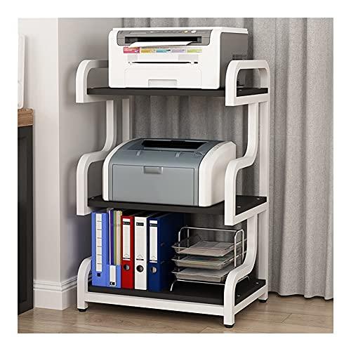 Soporte Impresora Escritorio Soporte de la Impresora de pie, Organizador de Soporte de Impresora de Escritorio con Marco de Metal 3 Niveles, para máquina de fax, escáner, Archivos Soporte Impresora