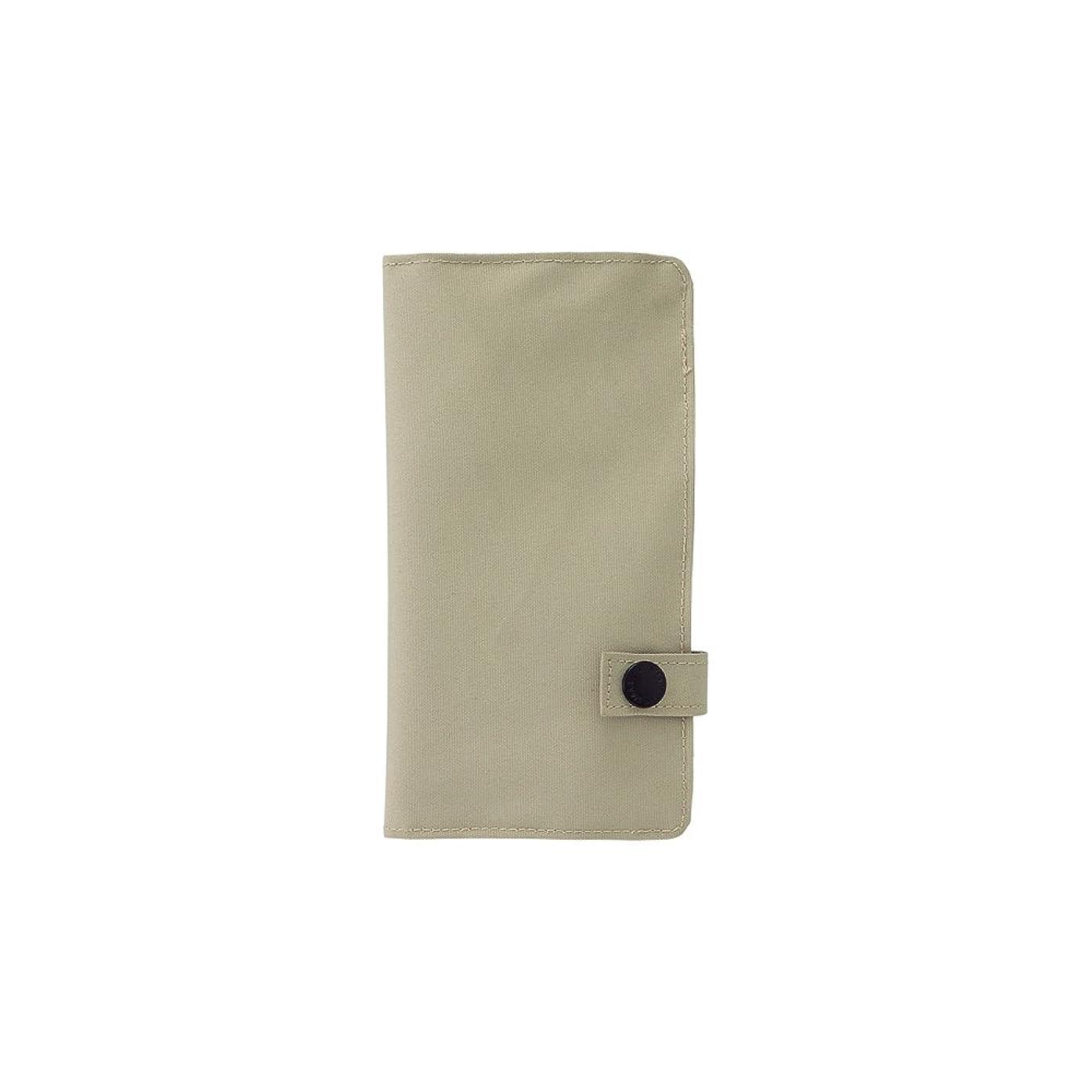 LIHIT LAB. Slim Pen Case, Beige, 7.5 x 4.3