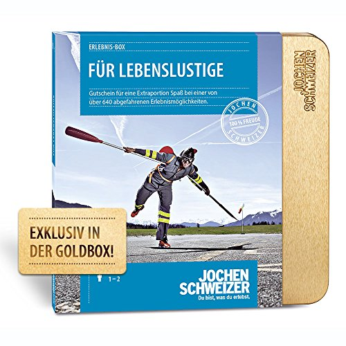 Jochen Schweizer Erlebnis-Box 'FÜR LEBENSLUSTIGE', mehr als 580 Erlebnisse für 1 Person, Gutschein in Geschenkbox